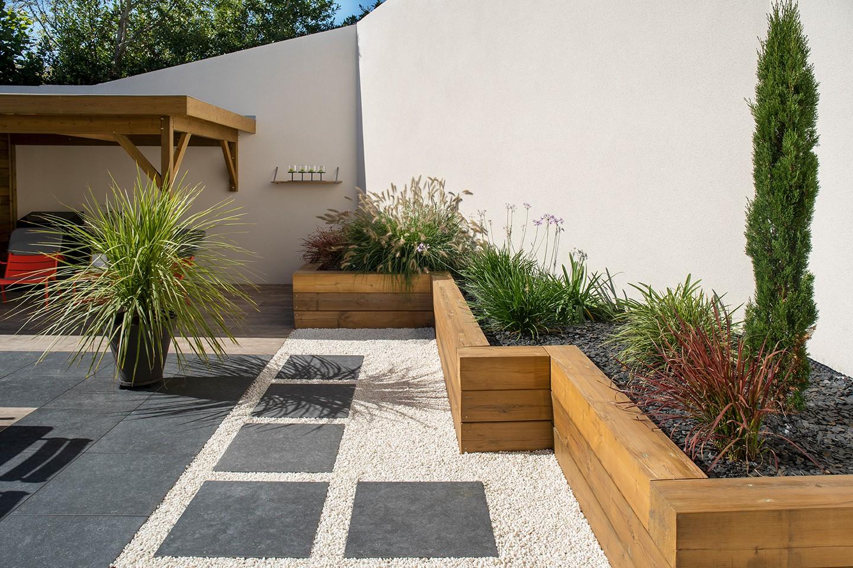 Terrasse En Bois Et Jardin création de jardin saint-herblain : dÉco jardin,conception